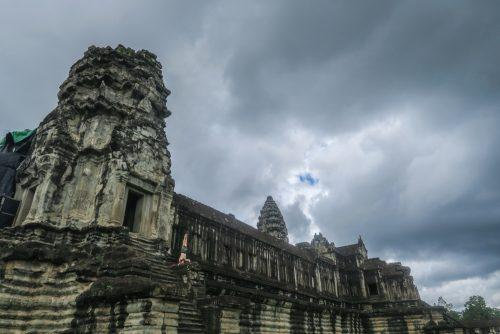 Sirsasana  Angkor Temple, Shape Of Peace,  Cambogia,  Angkor Wat,  (2016),  60x40cm