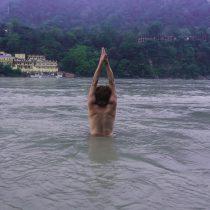Talasana in Ganga
